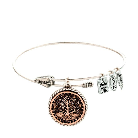 Tree of Life Two Tone Bangle