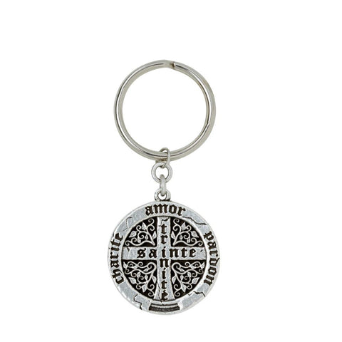 Old World Cross Key Ring