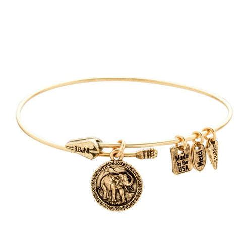 Wise Elephant Coin Bangle
