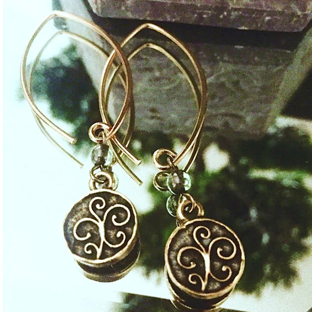 bbeni christian dangle earrings