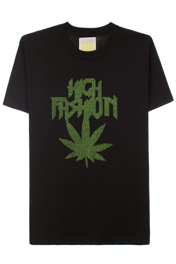 SS T-SHIRT W/HIGH FASHION LOGO | BLACK/GREEN