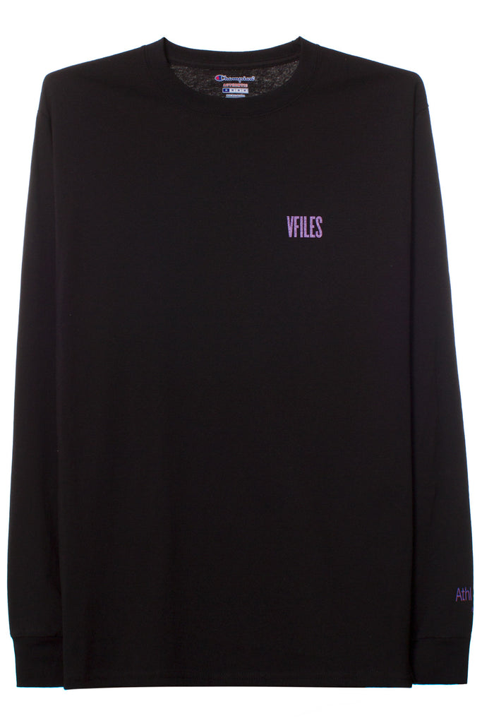VFILES BASICS LONG SLEEVE T-SHIRT | BLACK-PURPLE