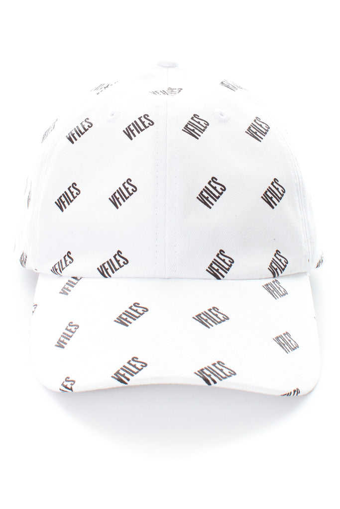 VFILES BASICS DAD CAP W/ ALL OVER PRINT | WHITE