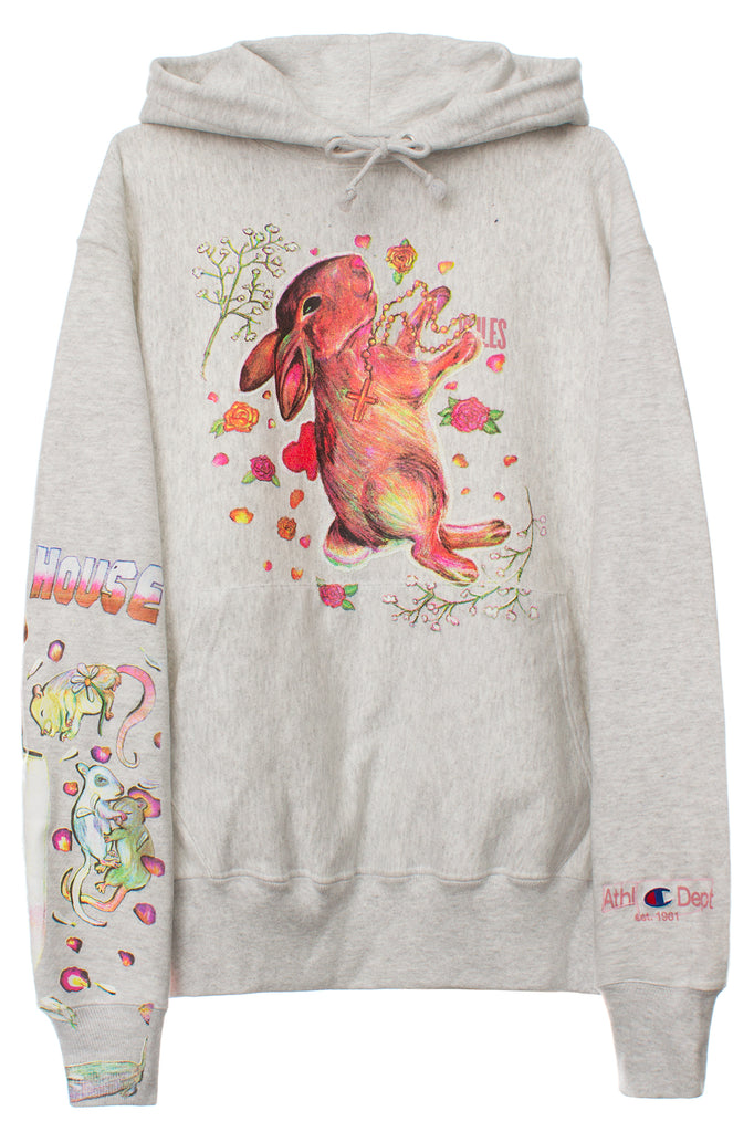 VFILES X STACY HOUSE CRITTERS HOODIE | GREY