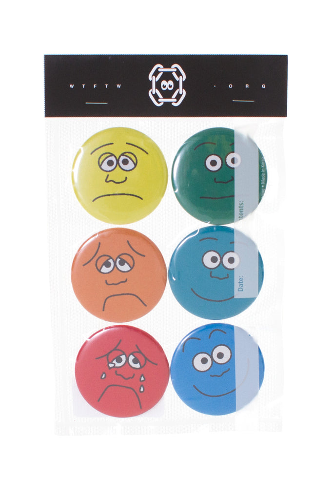 PAIN SCALE PIN SET OF 6