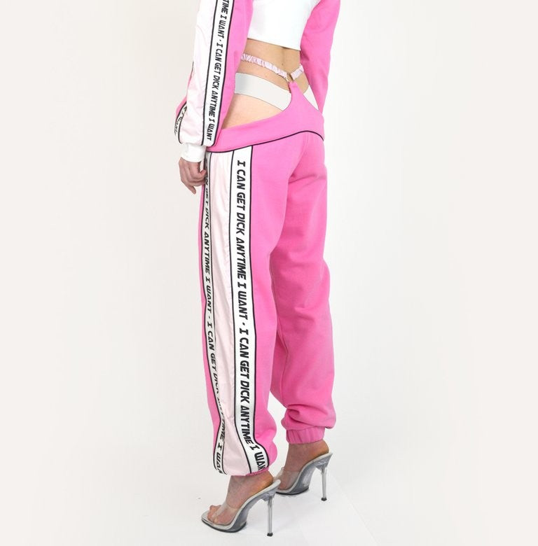 G-STRING TRACKPANTS PINK