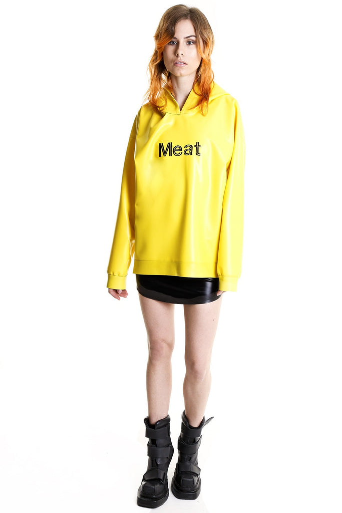 TOXIC YELLOW POISON MEAT HOODIE