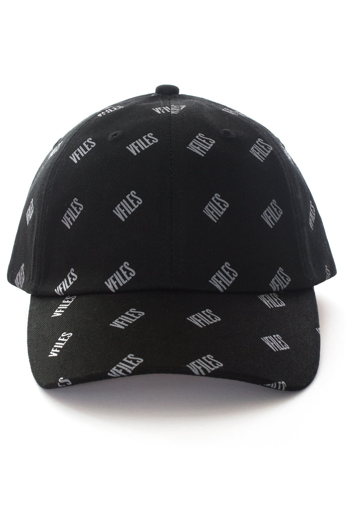 VFILES BASICS DAD CAP W/ ALL OVER PRINT | BLACK