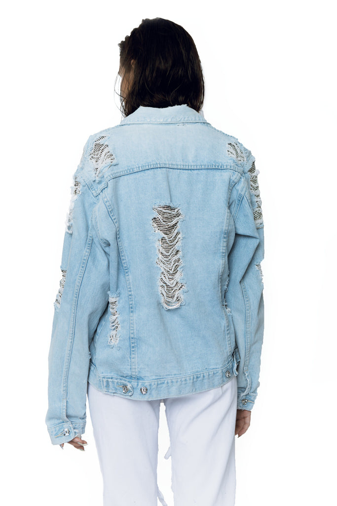 Diamond dust denim jacket