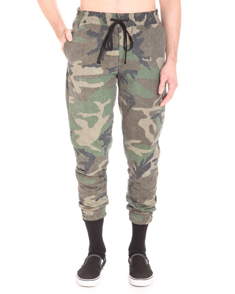 QUILTED CAMO BURNETT PANT