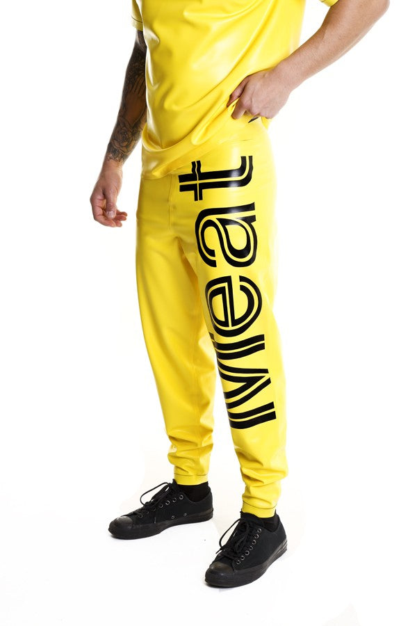 TOXIC YELLOW CONTAMINATED BAGGY MEAT TROUSERS