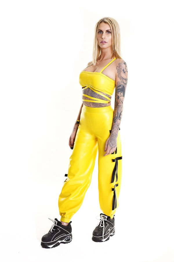 TOXIC YELLOW DEADLY BAGGY TROUSERS