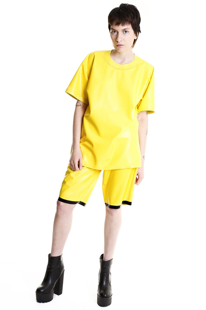 TOXIC YELLOW CONTAMINATED OVERSIZED TEE