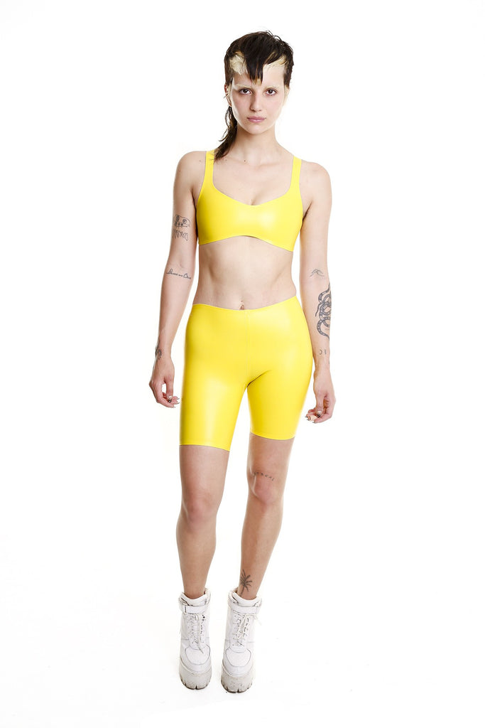 TOXIC YELLOW NOXIOUS CYCLING SHORTS