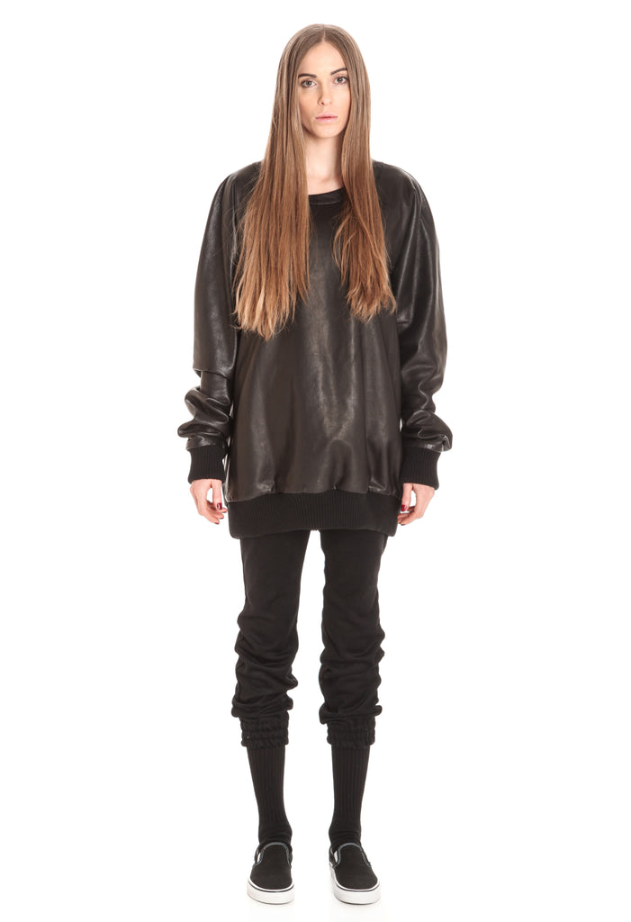 LEATHER FPP RAGLAN PULLOVER