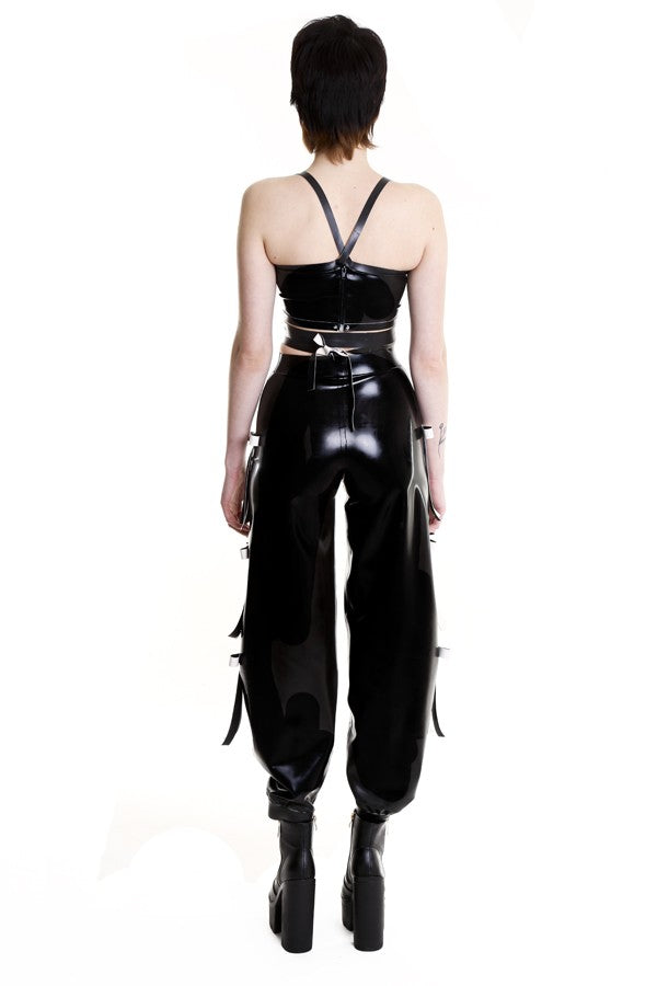 TOXIC BLACK DEADLY BAGGY TROUSERS