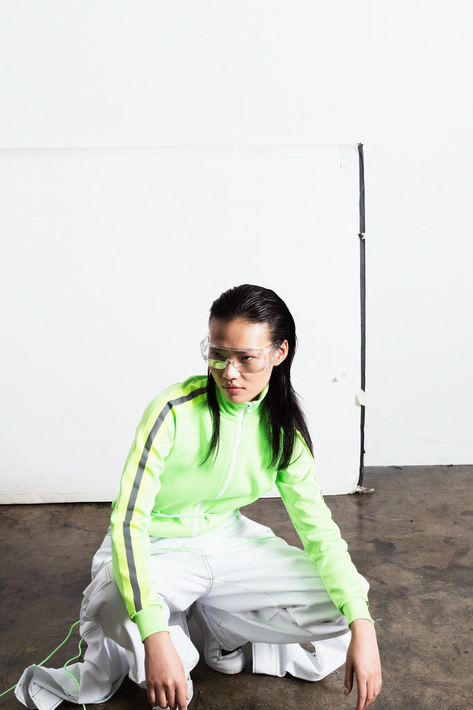 Reflect Tracksuit Top Neon Green