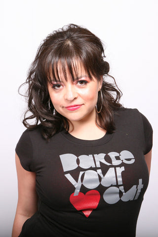 Dance Your <3 Out <br>Fitted tee - Black