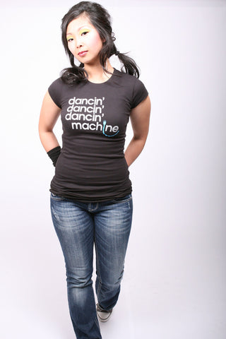 Dancin' Machine <br>Fitted tee - Black