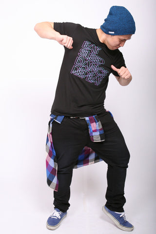 Eat. Sleep. Dance. Repeat. <br>Crew - Black