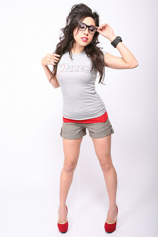 Heart Dance <br>Fitted tee - Gray
