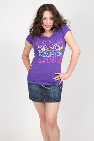 Dance 4x <br>V-neck - Purple