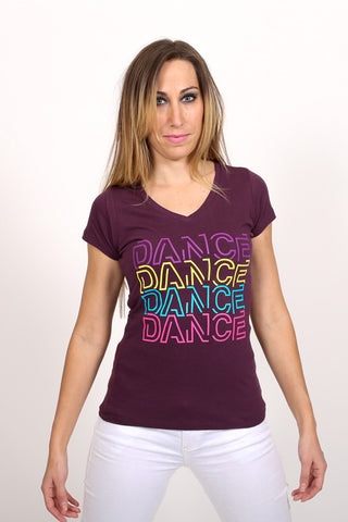 Dance 4x <br> V-neck - Plum