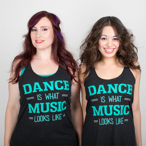 Dance is What Music Looks Like <br>Racerback tank - Vintage Black