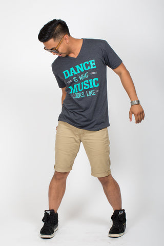 Dance is What Music Looks Like <br>V-neck - Charcoal