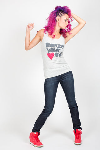 Dance Your <3 Out <br>Tank- Heather Gray