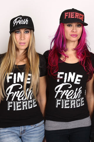 Fierce Snapback <br> Black and Hot Pink