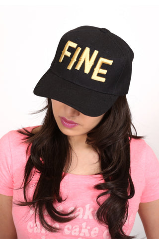 Fine Snapback <br> Black and Gold
