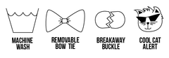 Cat Collar and Bow Tie Set