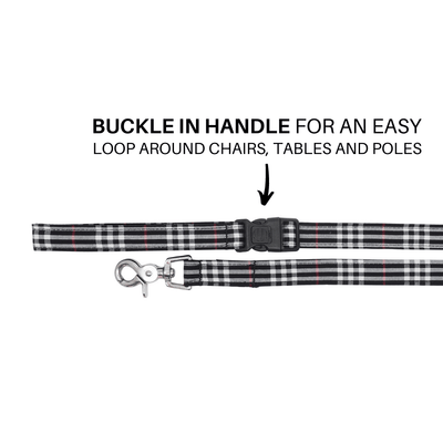 NEW Dog Leash : CLASSIC PLAID BLACK