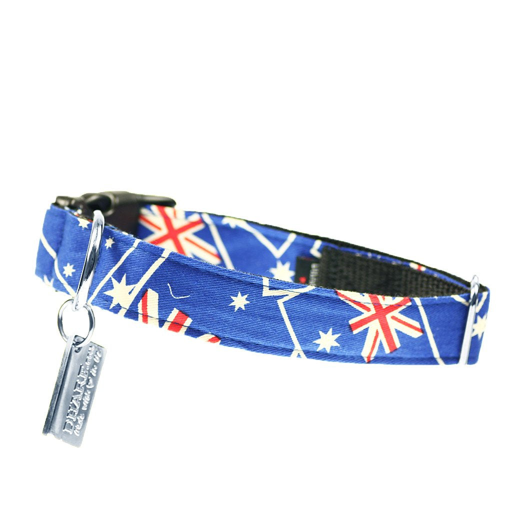 Dog Collar, Bow tie and Leash Set :  Aussie Blue - Dharf - 4