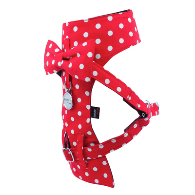 Cat Bow-tie Harness - Red Polka Dot
