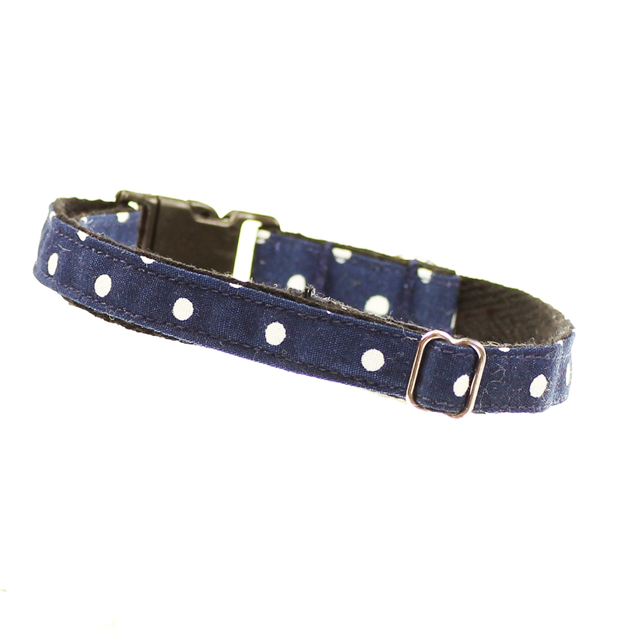 Cat Collar and Bow Tie :  Blue Polka