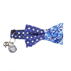 Cat Collar and Bow Tie :  Blue Mix and Match