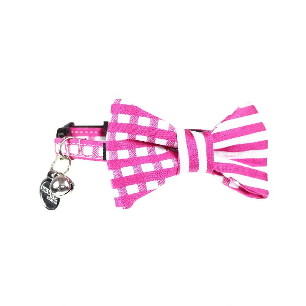 Cat Collar and Bow Tie :  Pink Mix and Match - Dharf - 1