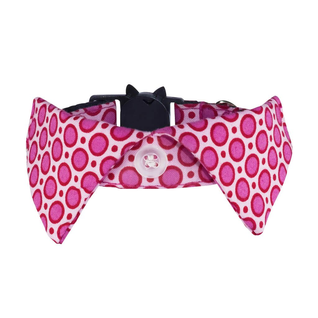 Non-discriminatory Cat Shirt Collar - Pink Dotty - Dharf - 1