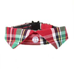 Scottish Tartan | Cat Shirt Collar Set