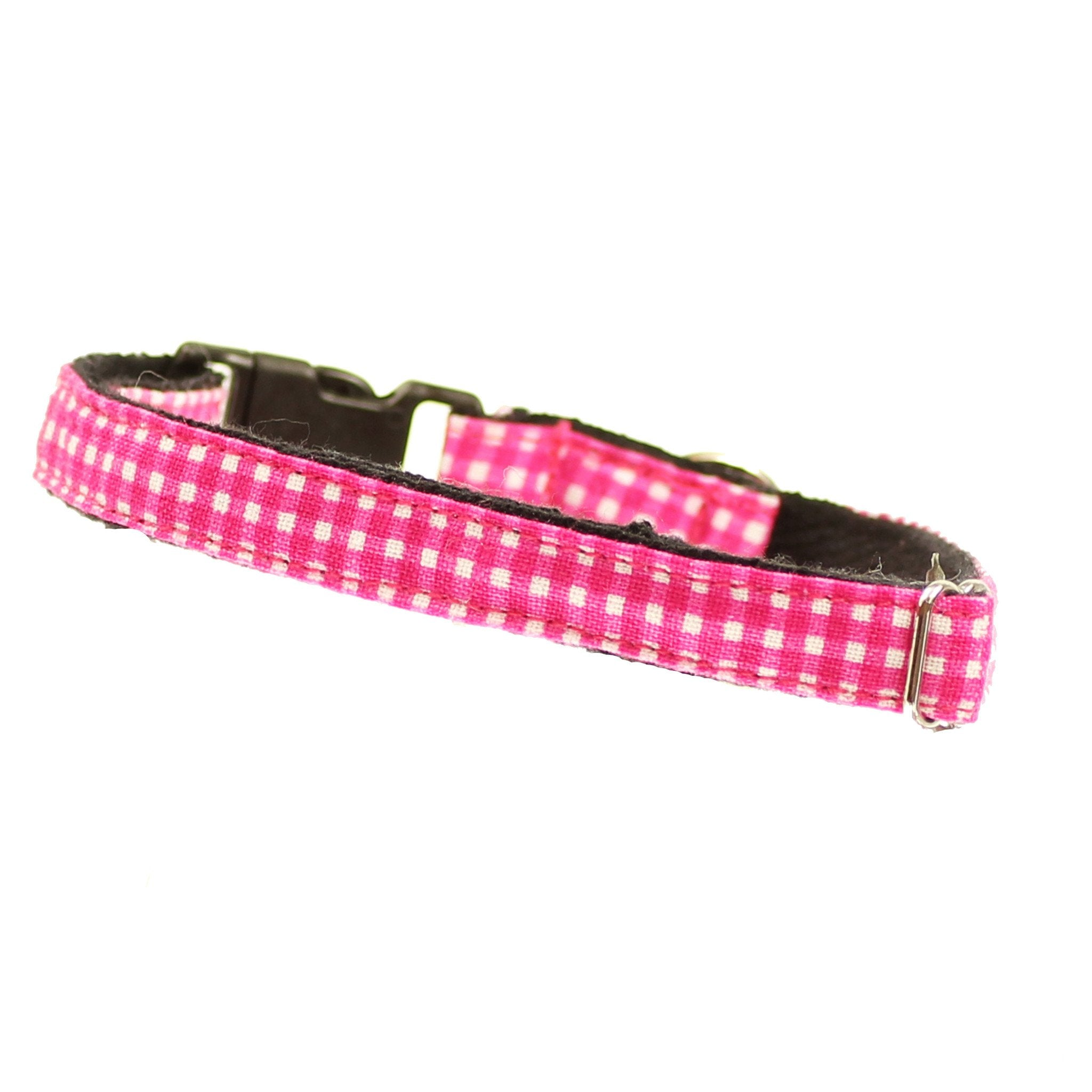 Cat Collar and Bow Tie : Pink Gingham - Dharf - 3