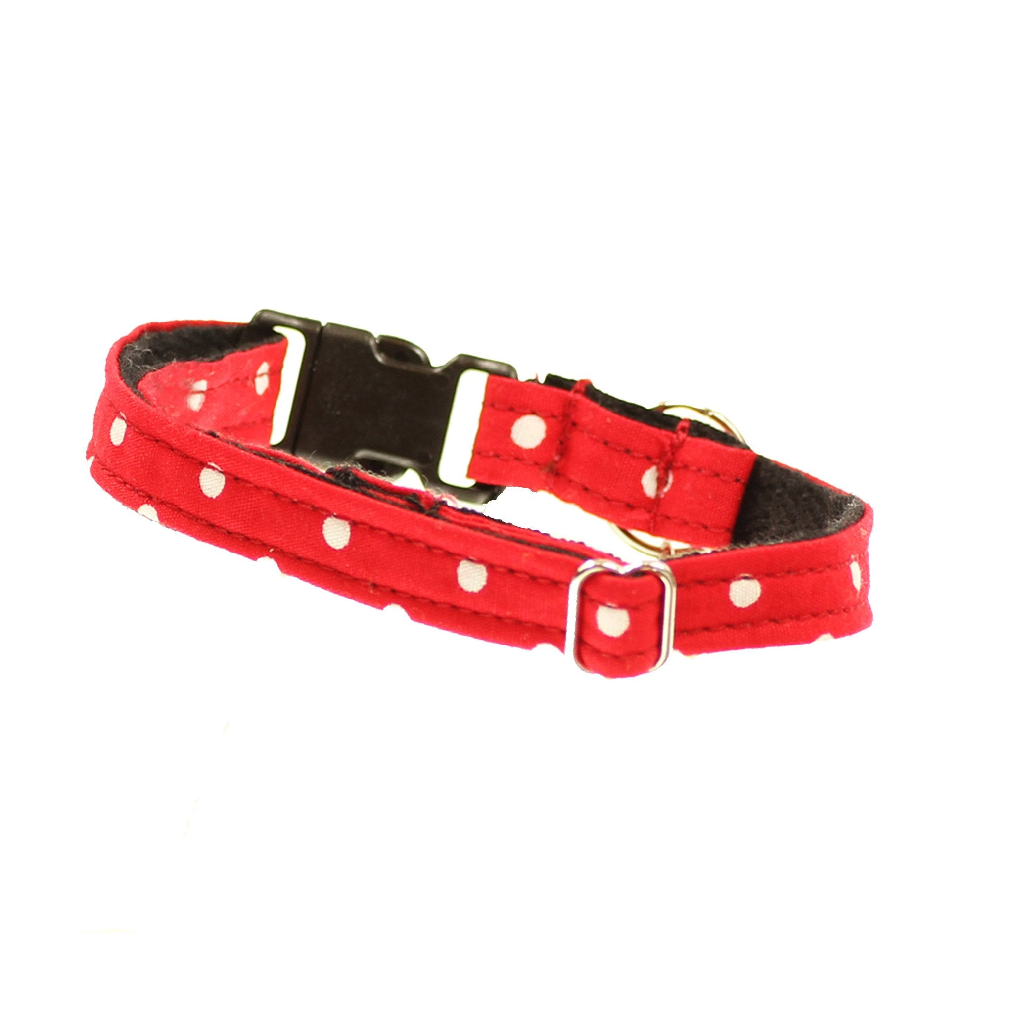 Cat Collar and Bow Tie : Red Polka Dot - Dharf - 3