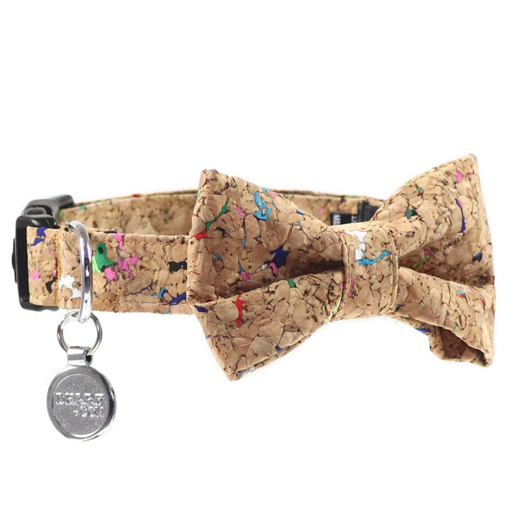 Dog Bow Tie and Collar Set : Cork
