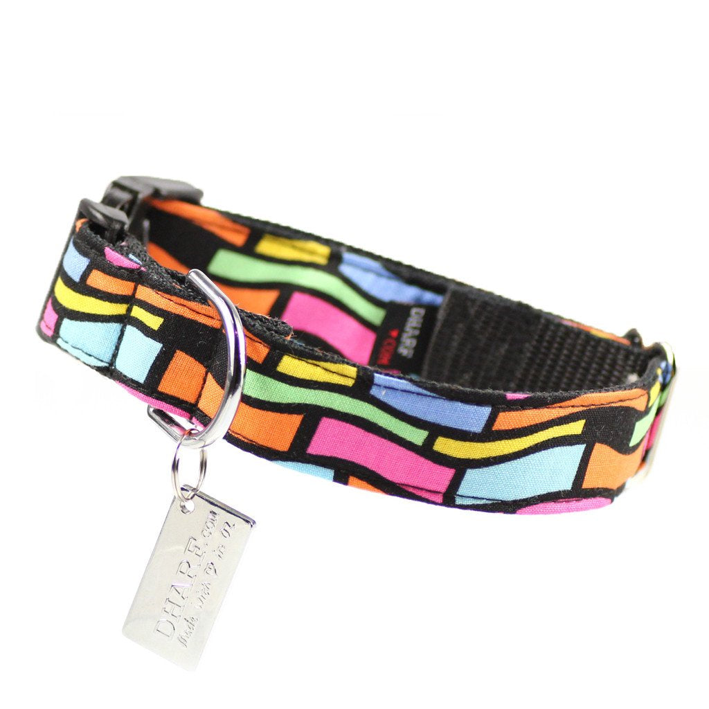 Dog Bow Tie and Collar Set : Crazy Neon - Dharf - 4