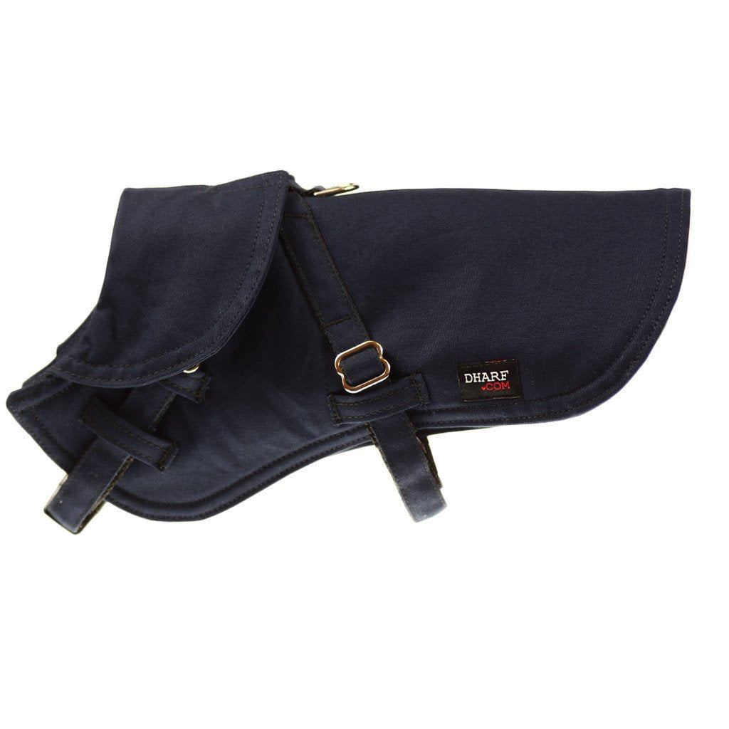 Dog Jacket Water-repellent in navy. Adjustable, fleece lined and high quality