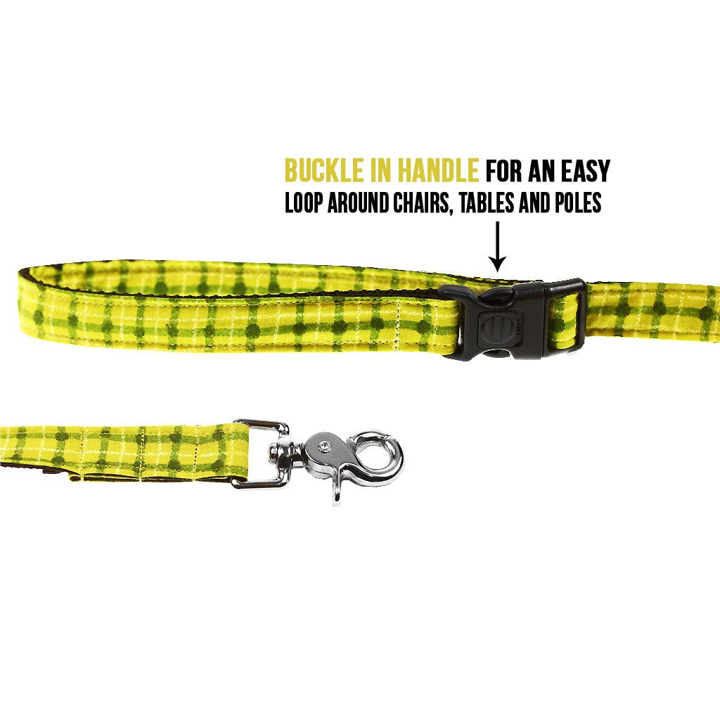 Dog Leash : Green Squares