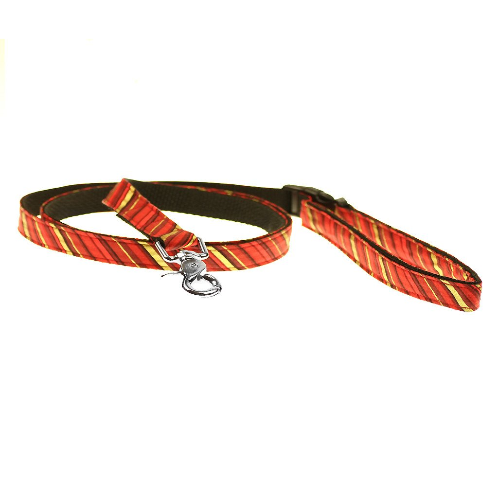 Dog Leash : Red and Gold Candy Cane - Dharf - 1