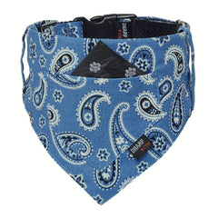 Dog Bandana and Collar :  BLUE PAISLEY