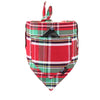 Dharf Dog bandana in red and green tartan